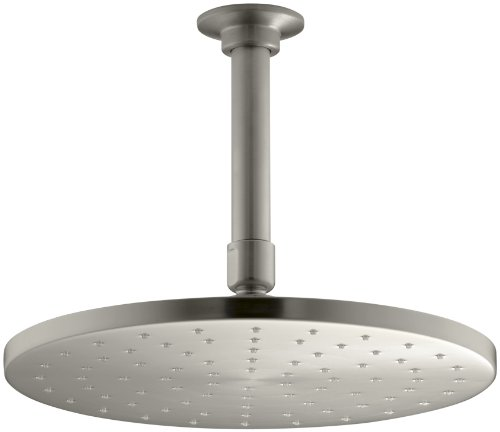 -Inch Contemporary Round Rain Showerhead, Vibrant Brushed Nickel ()