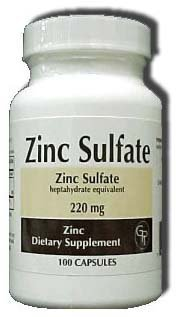 Zinc Sulfate heptahydrate equivalent 220Mg Capsules – 100 each Review