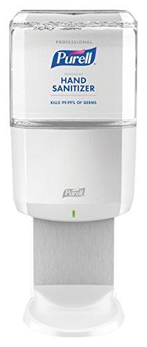 PURELL Professional Advanced Hand Sanitizer Foam ES6 Starter Kit, 1- 1200 mL Sanitizer Refill + 1 - ES6 White Touch-Free Dispenser - 6454-1W