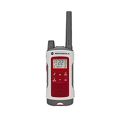Motorola Solutions T480 Talkabout Rechargeable Emergency Preparedness Two-Way Radio Single Unit  (Red/White)