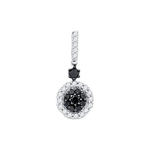 Black Diamond Cluster Pendant - 4