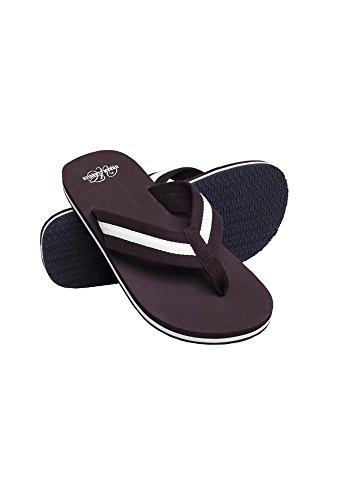 Urban Classics Unisex-Erwachsene Beach Slippers Slipper Braun (Brown/White 00074)