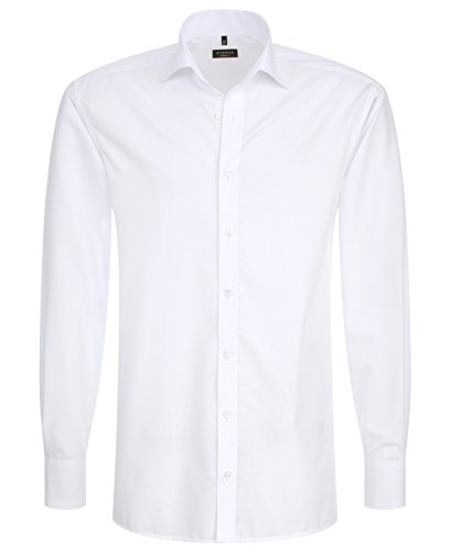eterna Herren Hemd Modern Fit Uni Popeline Weiß Gr. 38-46