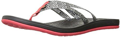 Bogs Womens Hudson Geo Webbing Sandalo Impermeabile Rosso / Multi