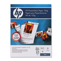 HP Color Laser Glossy Presentation Paper, 97 Brightness, 34lb, Letter, 300 - Hp Color Presentation Laser Paper