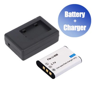 BattPit trade; New Digital Camera Battery + Charger Replacement for Olympus FE-370 (800 mAh)
