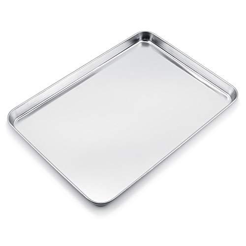 WEZVIX Large Baking Sheet Stainless Steel Baking Tray Cookie Sheet Oven Tray Pan (Rectangle Size:19 5/8
