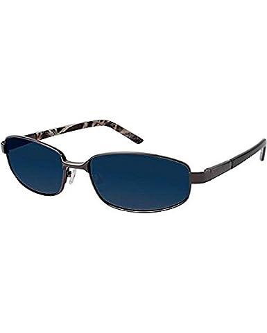 8786bd05a3 Amazon.com  Realtree Men s Gunmetal Grey Metal Polarized Sunglasses Black  One Size  Clothing