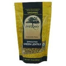 Truroots Organic Sprouted Green Lentil, 1 Pound -- 15 per case. by truRoots