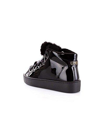 Guess Uriala, Baskets Hautes Femme Noir (Black Black)
