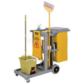 Global Janitor Cleaning Cart - Gray - Gray