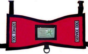 Service Dog ID Holder Vest (Red, Large 41-75 lbs.)