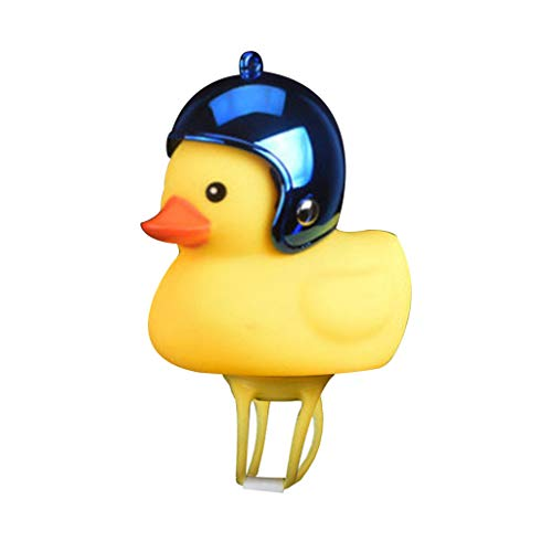 HCDjgh Bicycle Lights Front and Rear Rechargeable Led,Cartoon Duck Head Light Shining Bicycle Bells Handlebar Accessories Little Yellow Will Ring The + Helmet ()