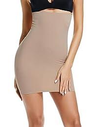 9da56543ac Half Slips for Women Under Dress High Waist Tummy Control Top Shapewear  Slimming Butt Lifter