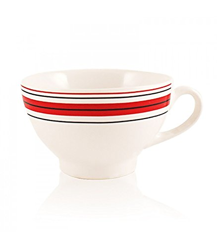 Breton Cider Bowl with Red and Black Trim Biscuiterie des Marais