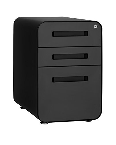 Stockpile 3-Drawer File Cabinet (Black/Grey)