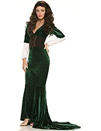 Womens Medieval Sexy Green Revealing Princess Queen Thrones Game Costume