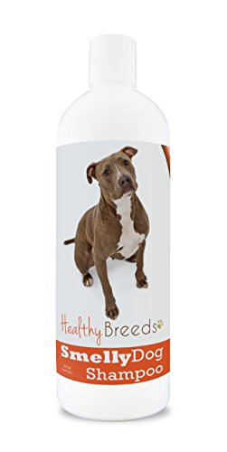 Healthy Breeds Smelly Dog Deodorizing Shampoo & Conditioner with Baking Soda for Pit Bull, Brown - Over 200 Breeds - 8 oz - Hypoallergenic for Sensitive Skin