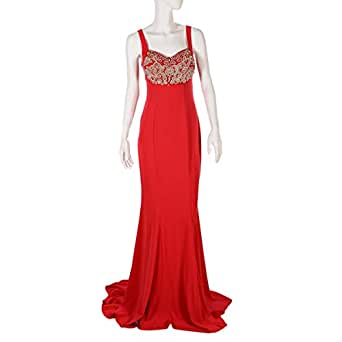 Ransa Red Mixed Special Occasion Dress For Women