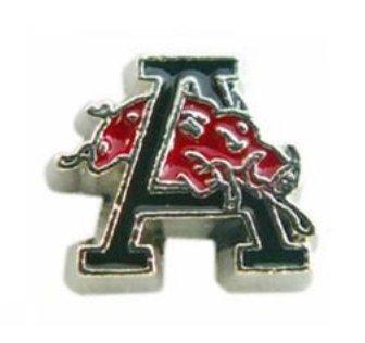 Cherityne Arkansas Razorbacks Athlete Team Logo Floating Charm for Locket (Arkansas Razorbacks Stone)