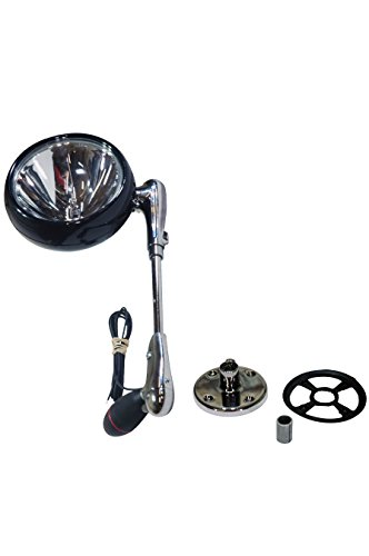 Larson Electronics 0321oxawuja Roof Mount Light With 12 Shaft Rubberized Handle And 100w Lamp Chrome 12v