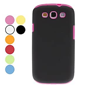 Detachable Double-Color Protective Hard Case for Samsung Galaxy S3 I9300 (Assorted Colors) --- COLOR:Rose