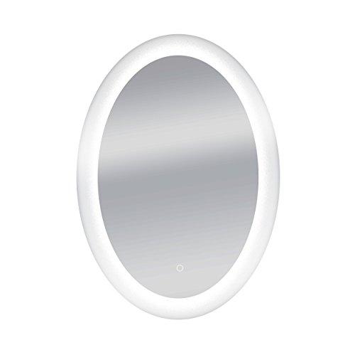 Dyconn Faucet Royal Oval Round Wall Mounted Backlit LED Bathroom Vanity Mirror - Faucet Royal Bathroom Mirrors Dyconn