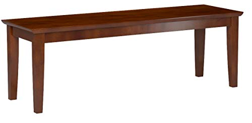 East West Furniture CAB-MAH-W Bench with Wood Seat, Mahogany Finish by East West Furniture (Image #2)