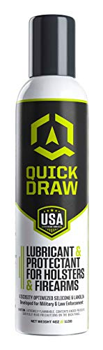 - Quick Draw Holster Lubricant & Protectant | Longer Holster Lift | Kydex, Leather, Plastic | Aerosol Spray