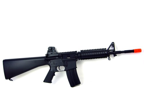 Well Starter Pack - M4 RIS Airsoft Rifle 380 FPS Metal Gear w/ 8000 BB