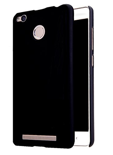 best sneakers 231cc c2068 Kaira Rubberised Matte Hard Case Back Cover For Xiaomi MI Redmi 3S  Prime,Pitch Black