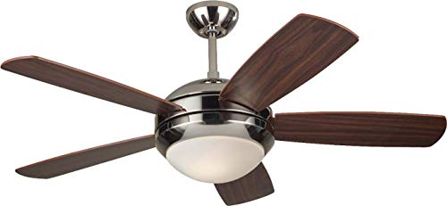 Monte Carlo 5DI44PND, Discus II, 44 Ceiling Fan, Polished Nickel