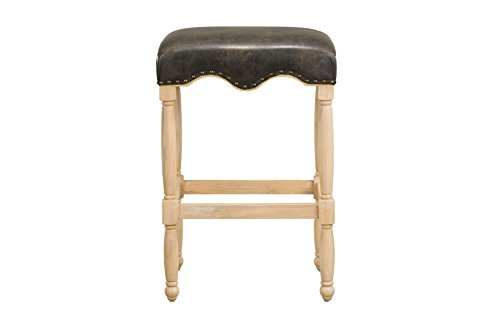 Standard Furniture Yorkshire 30 Barstool with Upholstered Seat, Brown
