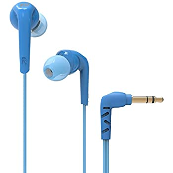 MEE Audio RX18 Comfort-Fit In-Ear Headphones with Enhanced Bass (Blue)