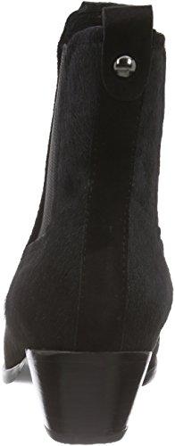 Giudecca JY1524A-1 - botines chelsea de cuero mujer negro - negro