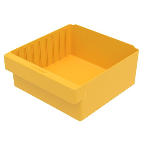 Akro-Mils 31112 11-5/8-Inch L by 11-1/8-Inch W by 4-5/8-Inch H AkroDrawer Plastic Storage Drawer, Yellow, Case of 4 by Akro-Mils