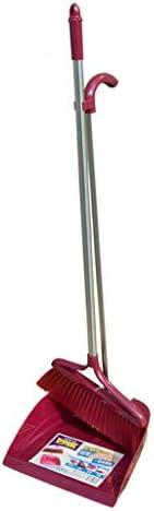 Czlsd 直立式ちり取り ほうきセット ちりとりとりセット ちりとりとブラシ レッド 100179