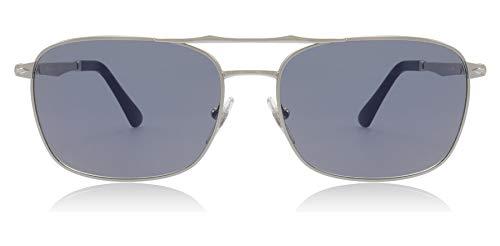 (Persol PO2454S 518/56 Silver PO2454S Rectangle Sunglasses Lens Category 2 Size)