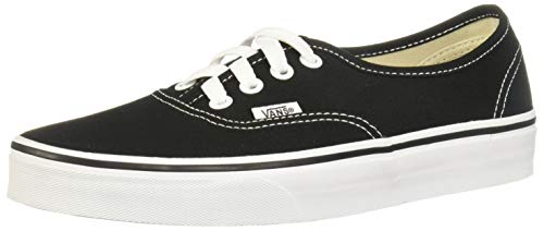VANS Unisex Authentic Black Canvas VN000EE3BLK Mens 10.5, Womens -