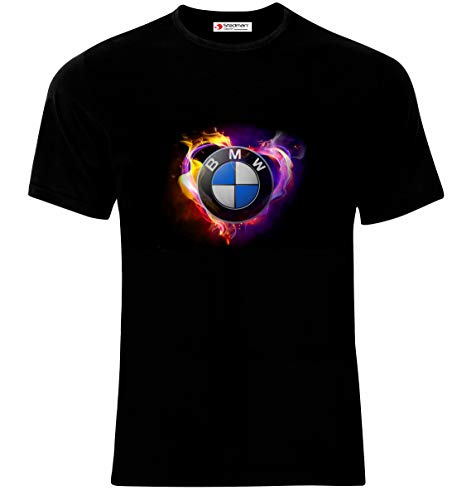Cars Bmw T Man Logo Black Auto Homme shirt Printed xwCwfHqEz