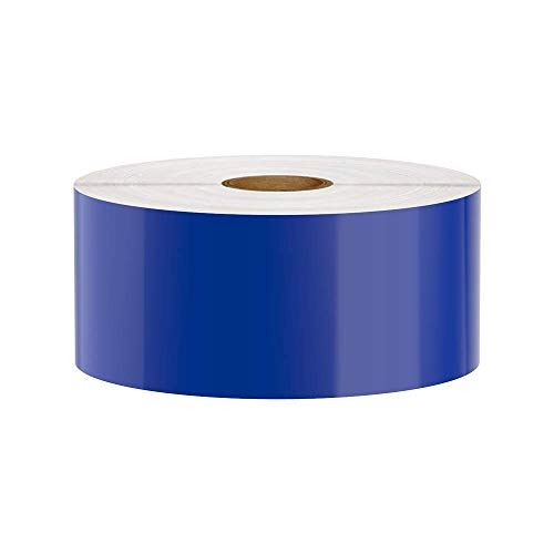 Premium Vinyl Label Tape for DuraLabel, LabelTac, SafetyPro and Others, Blue, 2