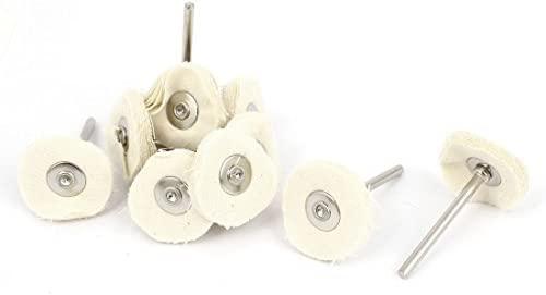 25mmx3mm Mezcla de algodón beige pulido Tampón para pulir ruedas ...