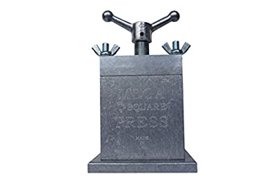 The MEGA T Square Press, The Best Rosin Prepper/Manual Handle Acme Thread, Pollen Press