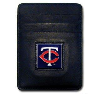 Siskiyou MLB Minnesota Twins Leather Money Clip/Cardholder