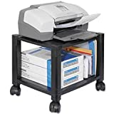 Mobile Printer Stand, Two-Shelf, 17w X 13-1/4d X 14-1/8h, Black By: Kantek