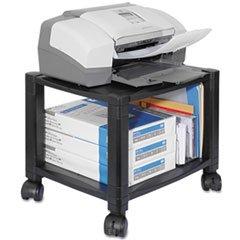 Mobile Printer Stand, Two-Shelf, 17w X 13-1/4d X 14-1/8h, Black By: Kantek
