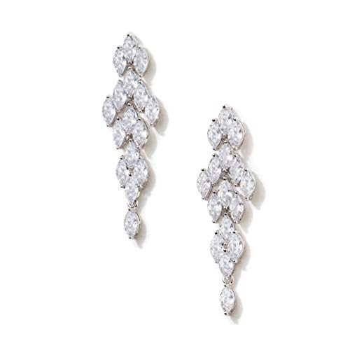 Formal Affair Marquise Chandelier Wedding Earrings, CZ Simulated Diamond Cluster Dangle Earrings - Also Perfect for Prom ()