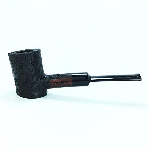 Briar Tobacco Pipe - FULUSHOU Mediterranean Briar Wood Tobacco Pipe, Hammer Desktop Carved Tobacco Pipe