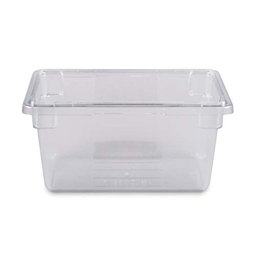 (Rubbermaid Commercial Products Food Storage Box/Tote for Restaurant/Kitchen/Cafeteria, 5 Gallon, Clear (FG330400CLR) (Renewed))