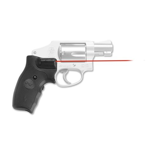 Red Round Grips (Crimson Trace Red Lasergrips for Smith & Wesson J-Frame Round Butt (Extended Grip) - LG-305)